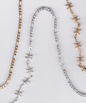 BARBED WIRE & FIGARO NECKLACE