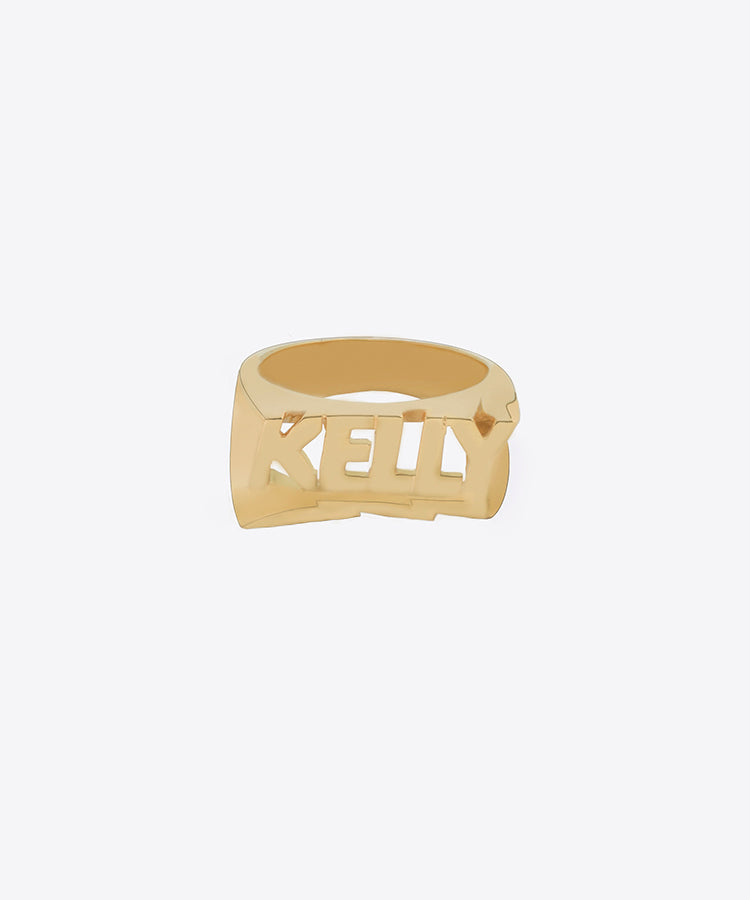 name products single line ring snash finger custom one plate rings jewelry nameplate