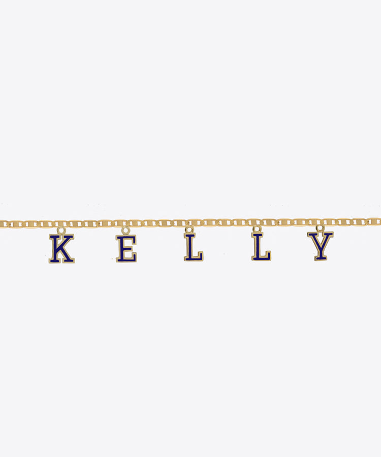 VARSITY NAME CHOKER NECKLACE