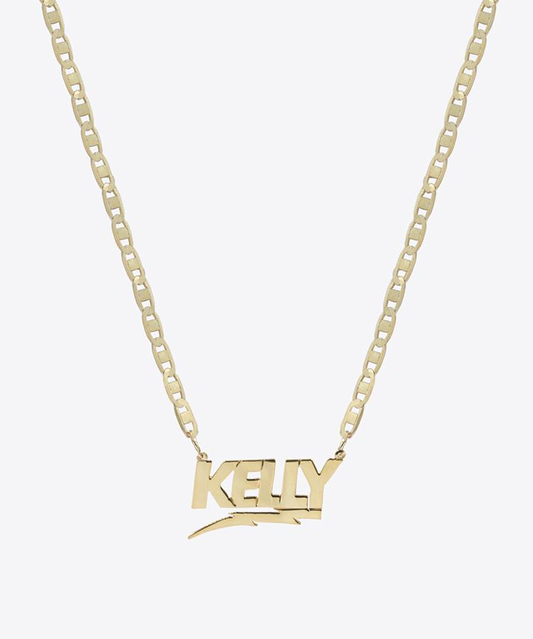 bolt nameplate necklace kelly shami shami jewelry