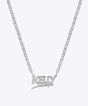 BOLT NAMEPLATE NECKLACE