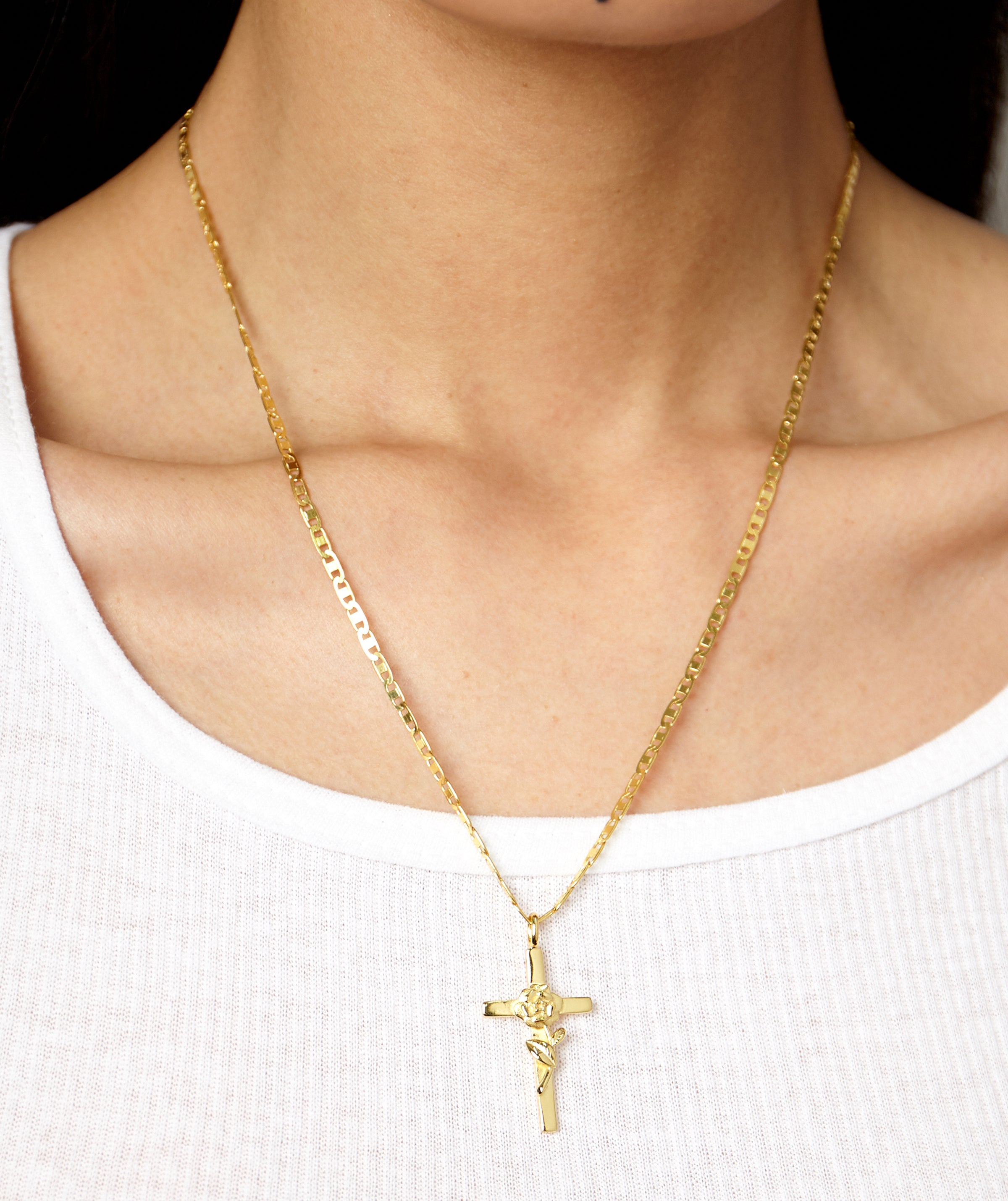 LOURDES CROSS NECKLACE