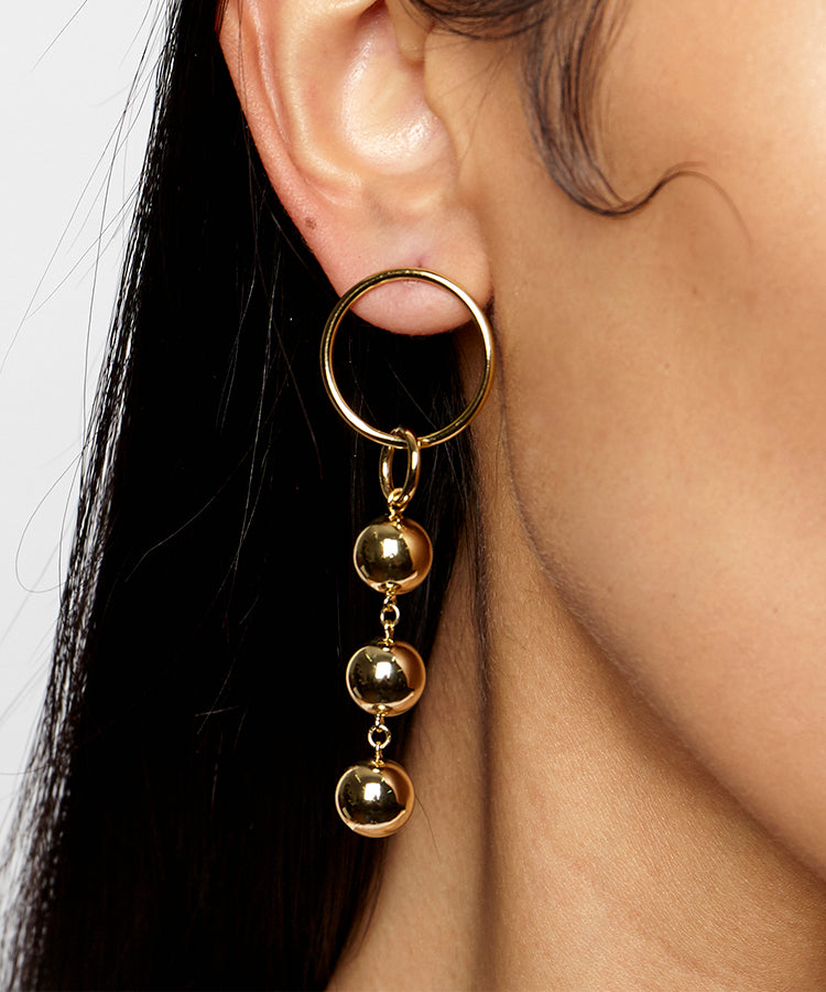 LULU MISMATCHED DROP EARRINGS