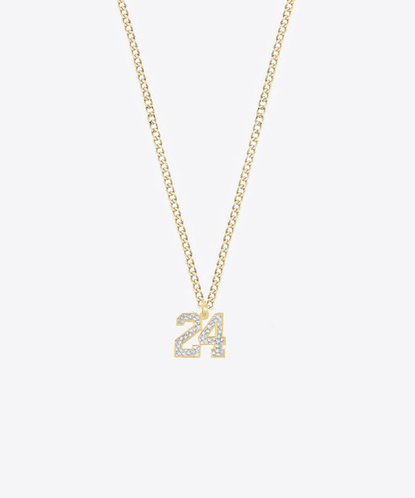 THE MINI NUMBER NECKLACE 14kt GOLD & DIAMONDS