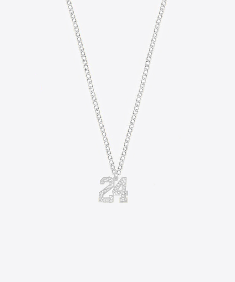 THE MINI NUMBER NECKLACE 14k GOLD & DIAMONDS