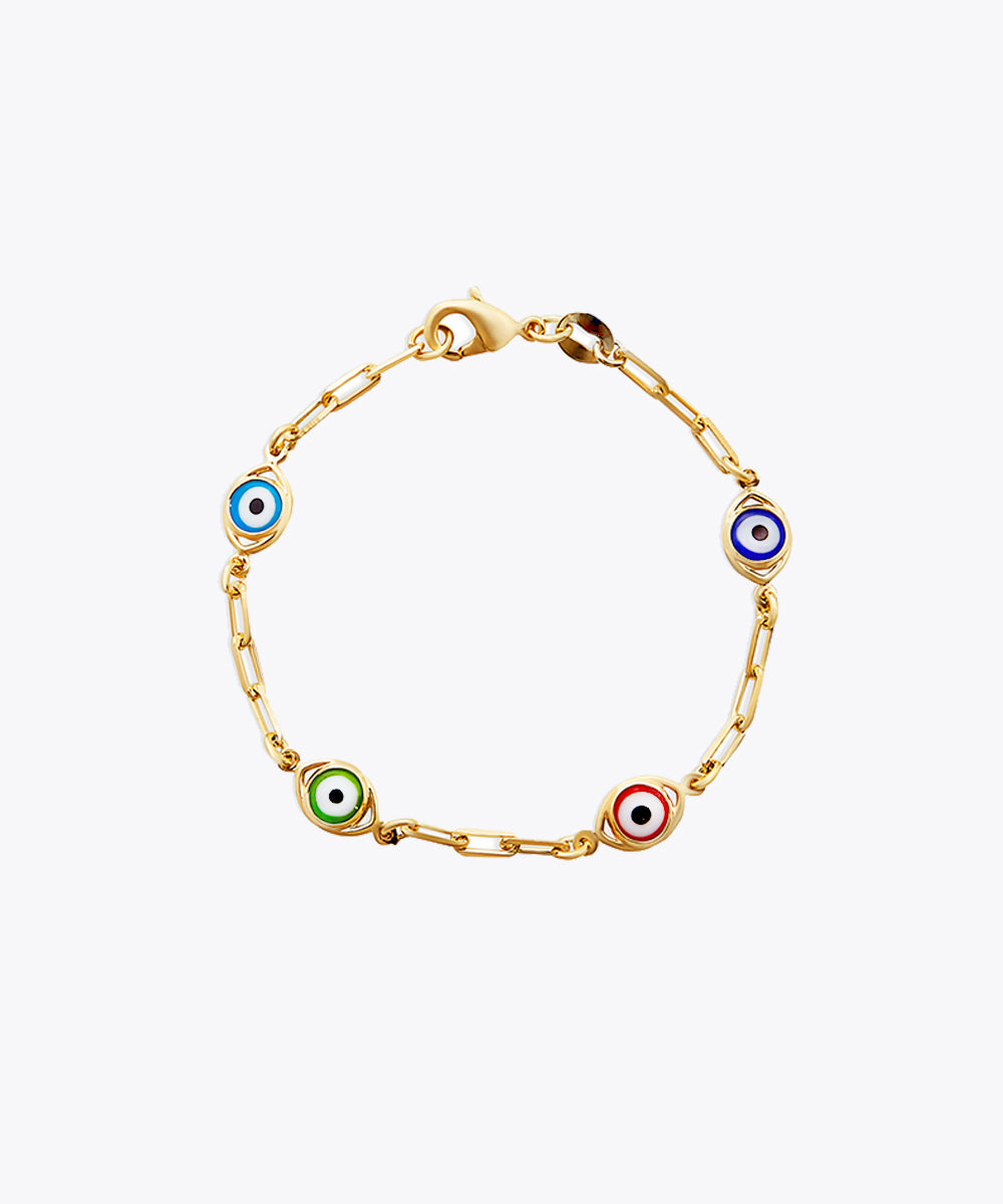 EVIL EYE MULTICOLOR BRACELET