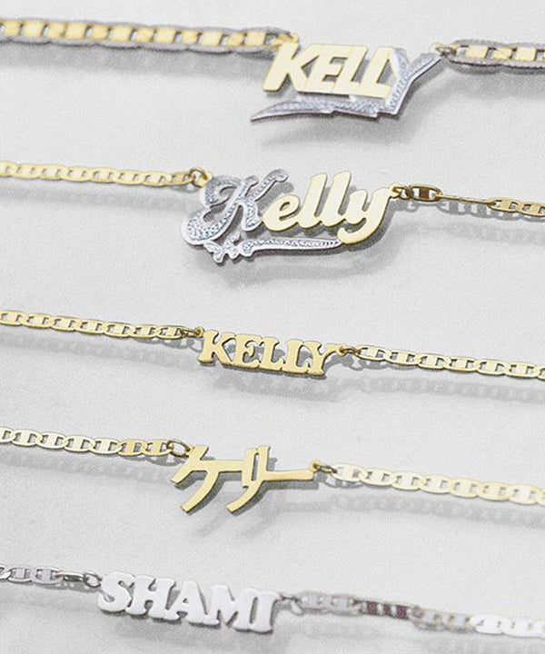 TRIP NAMEPLATE NECKLACE