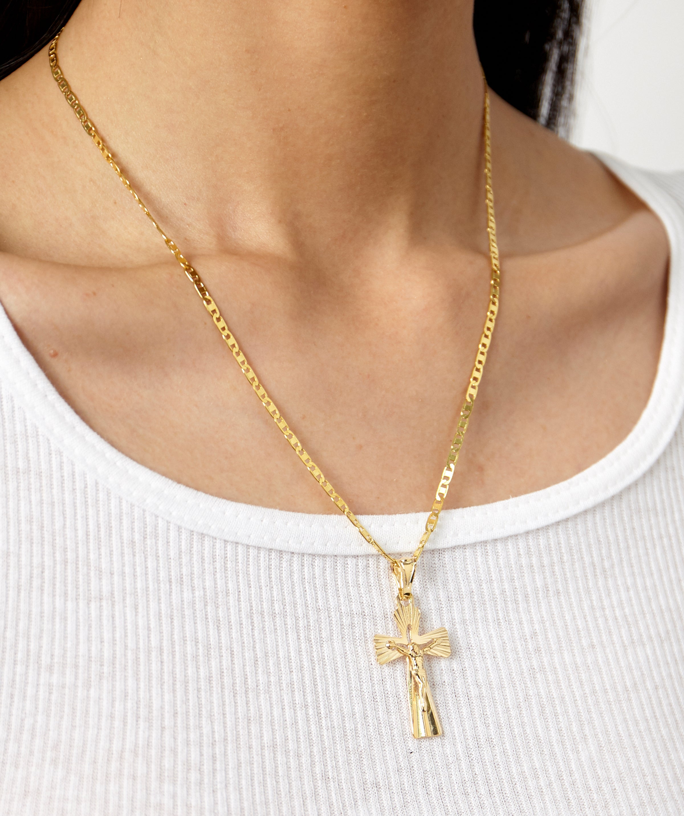 Notre dame cross necklace shami official notre dame cross necklace notre dame cross necklace aloadofball Choice Image