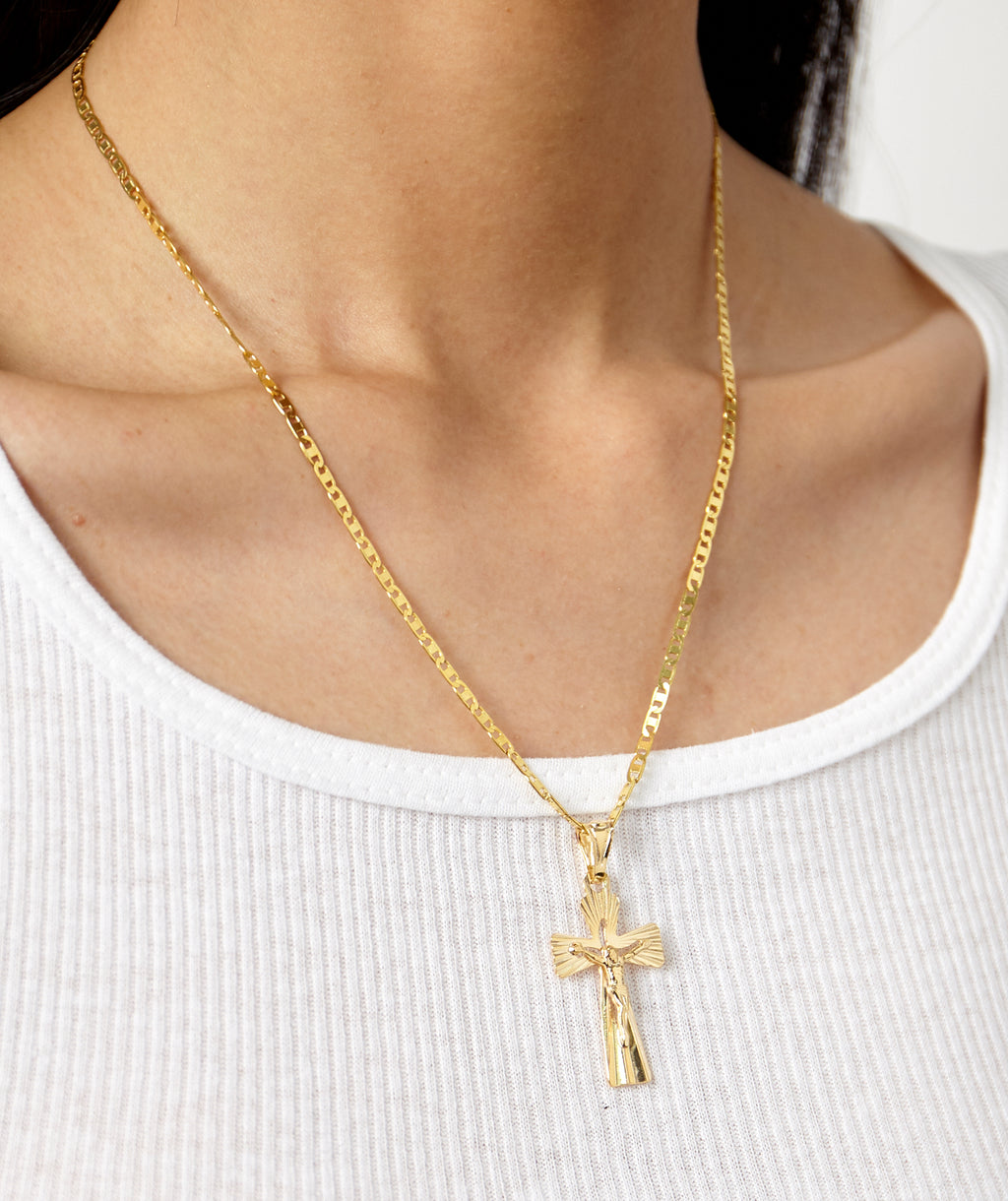 NOTRE DAME CROSS NECKLACE