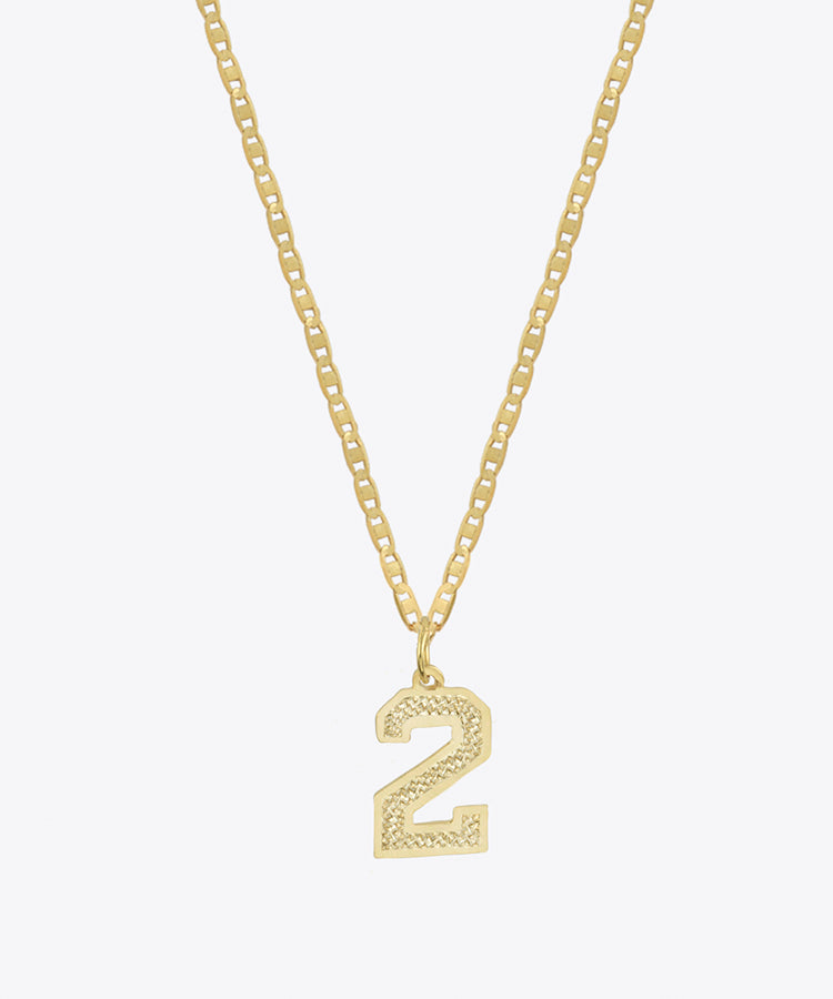 THE SINGLE NUMBER NECKLACE
