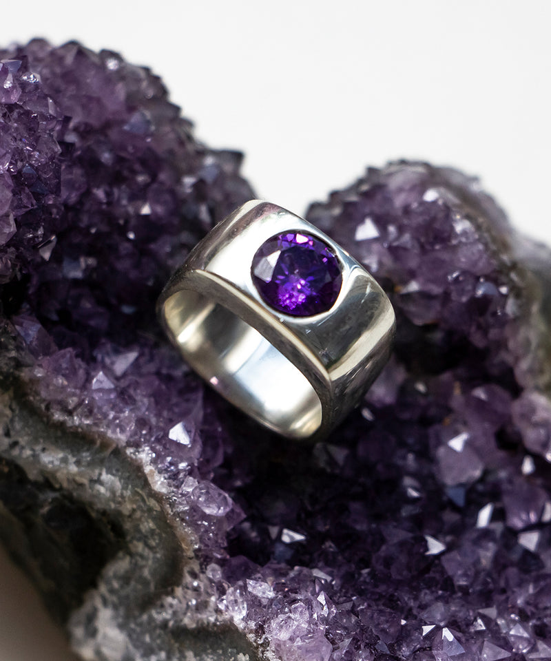 SUEZ PURPLE STONE RING