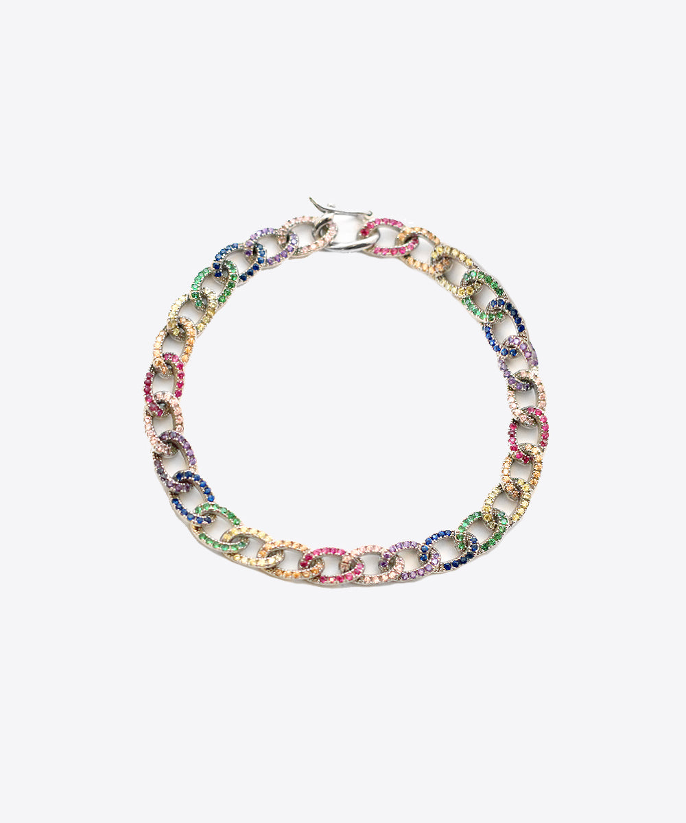 shami MULTICOLOR CURB LINK UNISEX BRACELET shami official shami jewelry vogue