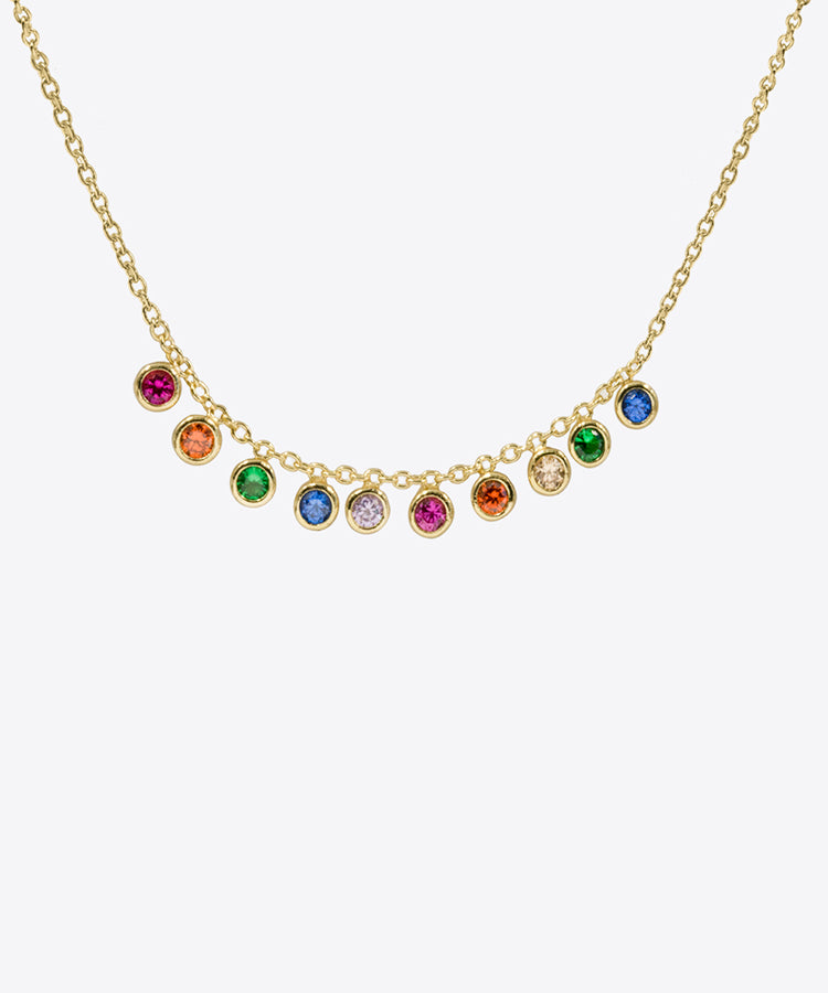 RAINBOW DAINTY DANGLE NECKLACE