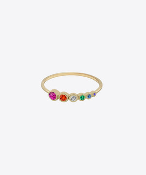 RAINBOW ROW DAINTY RING