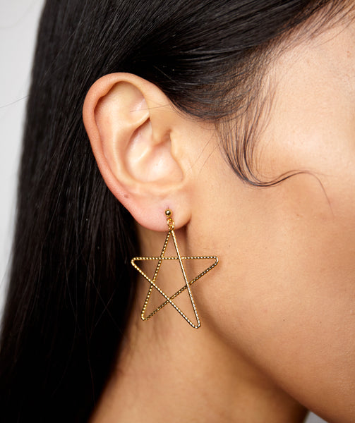 SCRIBBLE STAR DANGLE EARRINGS