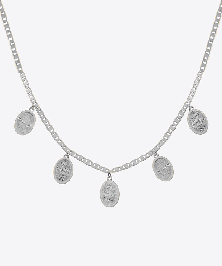 SHAMI MEDALLION CHOKER NECKLACE