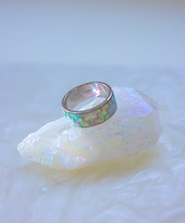 TYRE MOSAIC OPAL RING