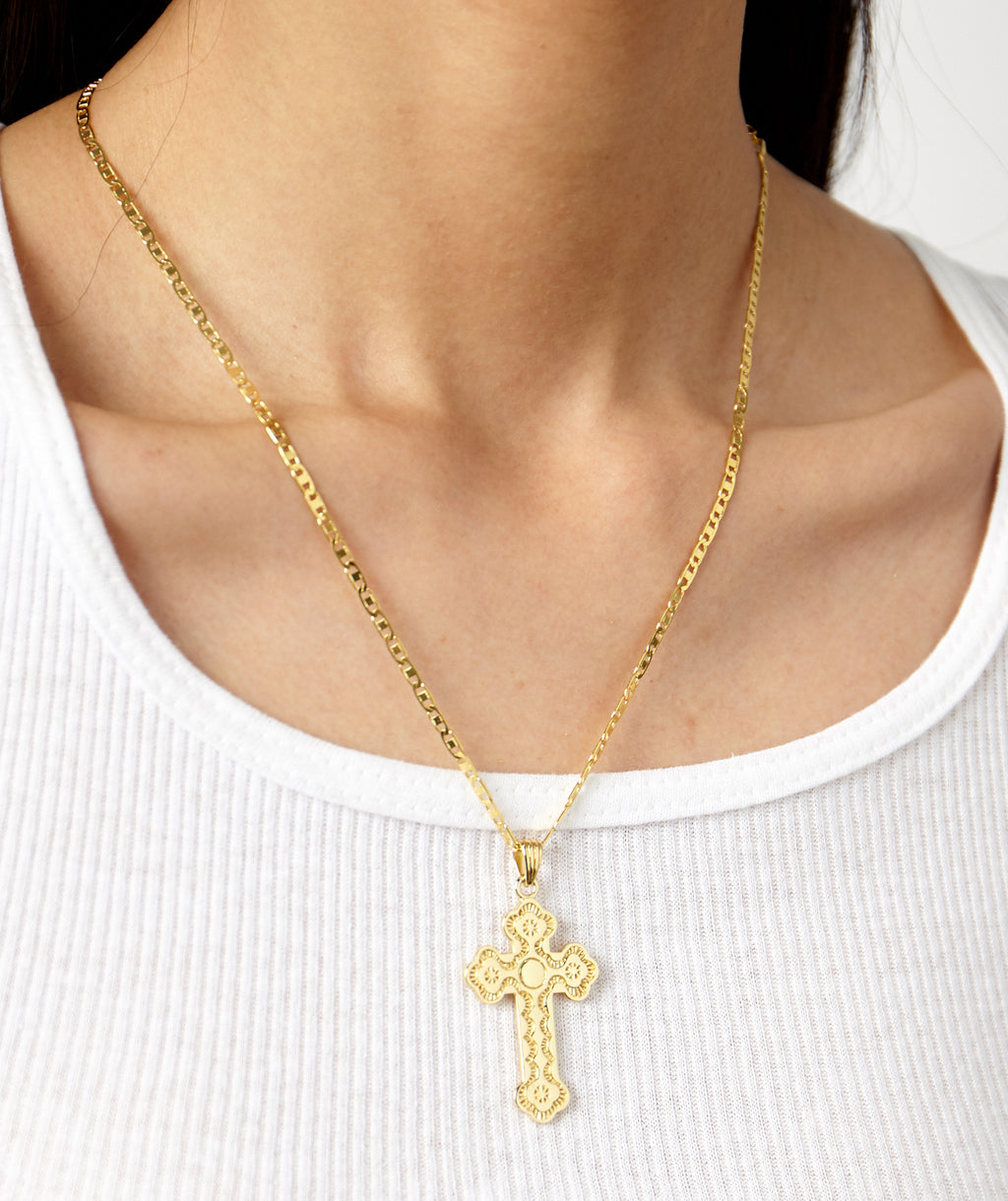 ST. MARK'S CROSS NECKLACE