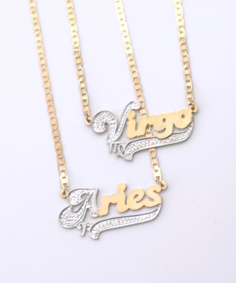 ZODIAC HAIGHT NAMEPLATE NECKLACE