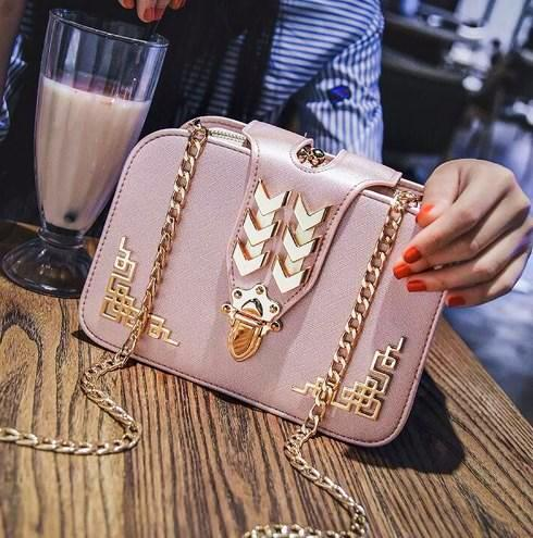 Shoulder bag Lotta 3 colors (pink, black, beige)