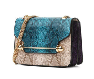 Snake Crossbody Bag Simona 3 colors (blue, red, green)