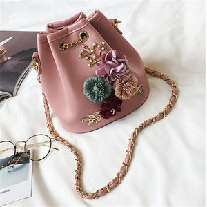 Bucket bag shoulder bag Flora 4 colors