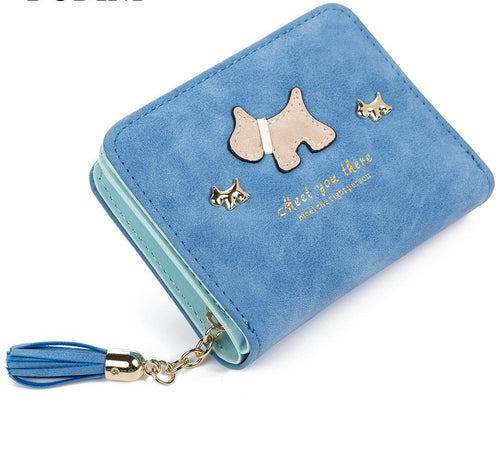 Wallet Dog Cartoon Tassels 8 colors
