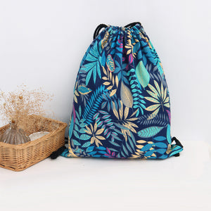 Printed Canvas Drawstring Backpack Jonny