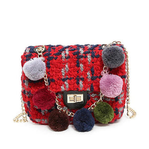 Crossbody Bag with pompoms Moa (3 colors)