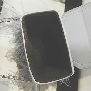 Crossbody bag Feathers and Heart  Pamela