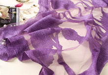 Silk Scarf Paloma Purple