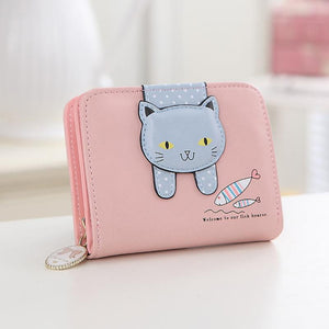 Cute cat wallet  Missy 6 colors