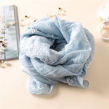 Cotton Scarf Anna Blue