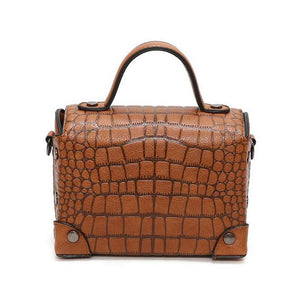 Crocodile Pattern Crossbody Bag Tanya 3 colors