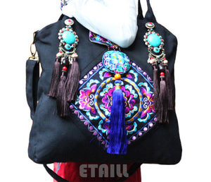 Emoridered  Boho Tote Bag  Malavi