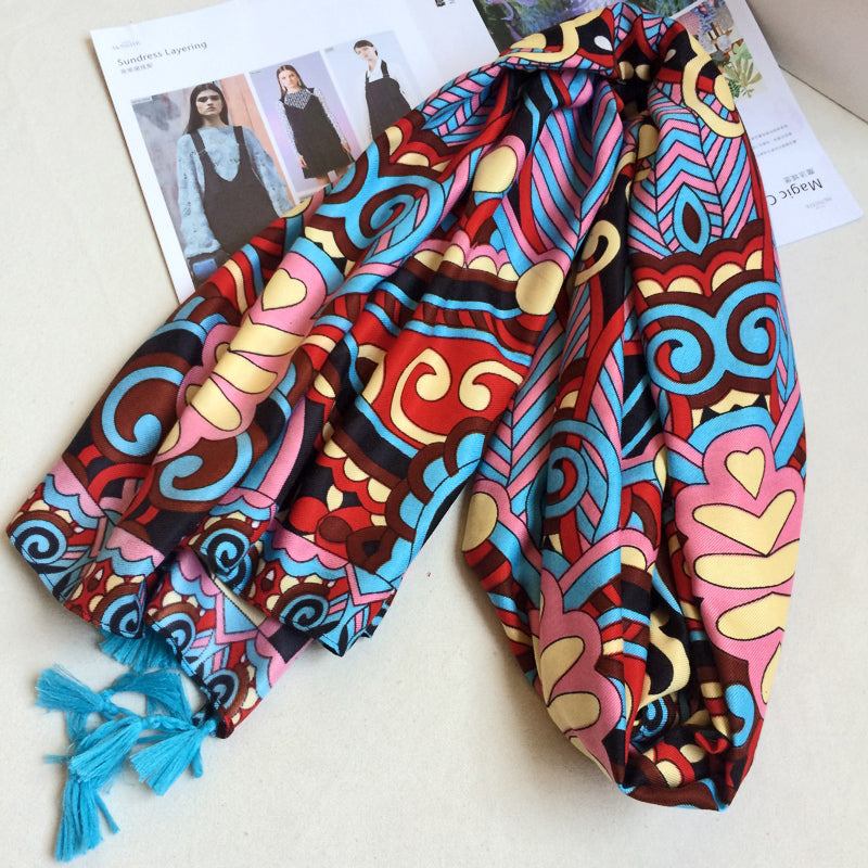 Cotton Scarf Colorful Carnival