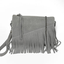 Genuine Suede Shoulder Bag Kumin 2 colors