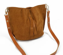 Genuine Leather Suede Tote Bag Carry