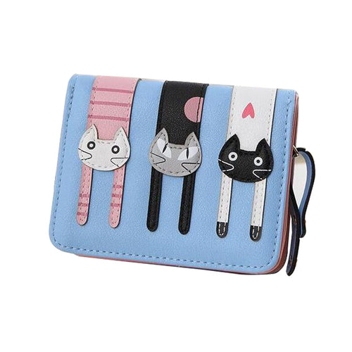Cute cat Wallet Three Cats 5 colors