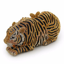 Crystal Evening  Clutch Bag Tiger