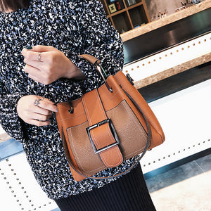 New Arrival High Quality PU Leather Women Bag Shoulder Bags Plaid Handbag Large Capacity Metal Top-handle Tote Bags