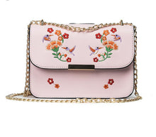 Embroidery Crossbody bag Birds 5 colors