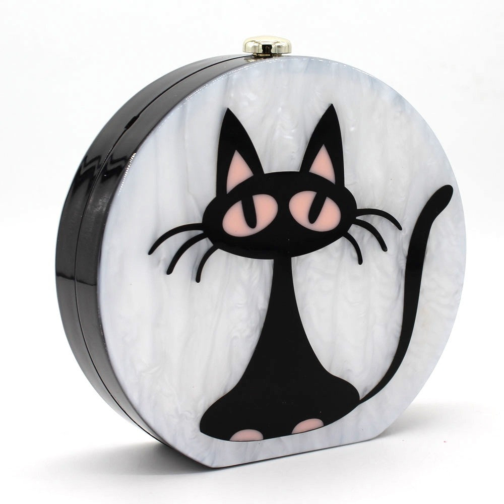 Round clutch bag Cat Boo