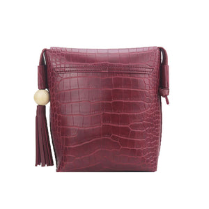 Mini Crossbody Bag  Tassel Crocodile Dana 5 colors
