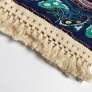 Cotton Scarf Ethnic Paisley with Tassels Istanbul