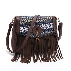 Fringe & tassel crossbody bag Lavinia 6 variants