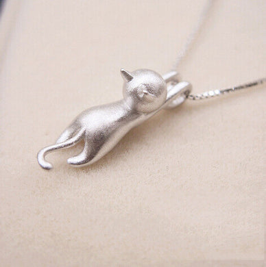 Sterling Silver Cat Necklaces