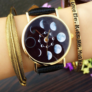 Quartz Moon Phase Watch for Women