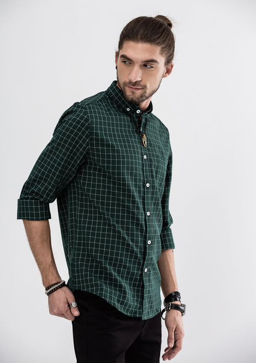 Eric Long Sleeve Shirt - Green