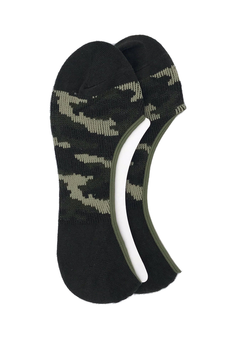 Camo Shadow Invisible Socks - Green